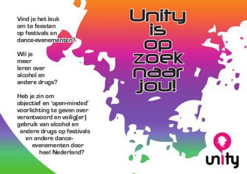 Unity peer vrijwilliger drugsvoorlichting voorlichting
