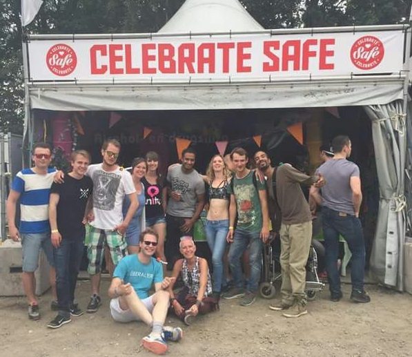 Unity stand Awakenings festival Celebrate Safe